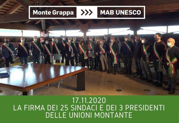 Dossier di candidatura MAB UNESCO, la firma dei Sindaci